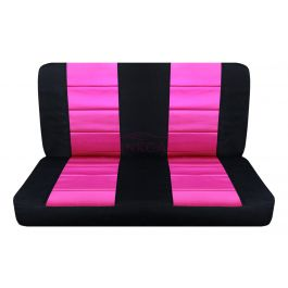 hot pink and black bench seat covers rear car seat cover. Black Bedroom Furniture Sets. Home Design Ideas