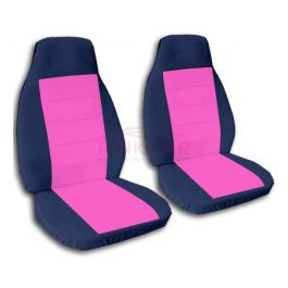 Hot Pink And Navy Blue Car Seat Covers