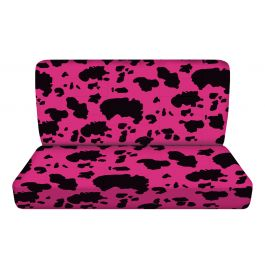 pink and black cow bench seat covers rear car seat cover. Black Bedroom Furniture Sets. Home Design Ideas