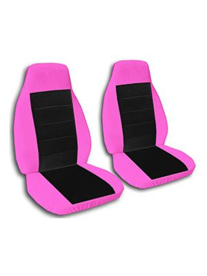 Black and Hot Pink Car Seat Covers