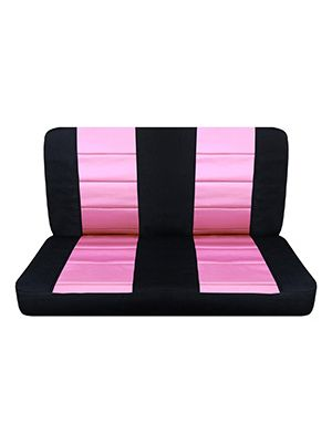 Cute Pink and Black Bench Seat Covers