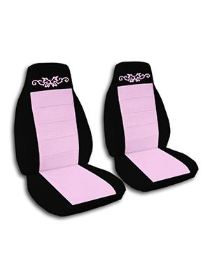 Cute Pink and Black Butterfly Tattoo Car Seat Covers