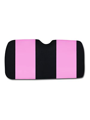 Cute Pink and Black Car Sun Shade