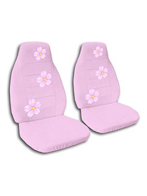 Cute Pink Cherry Blossoms Car Seat Covers