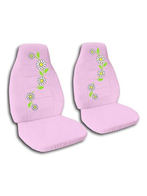 Cute Pink Daisies Car Seat Covers