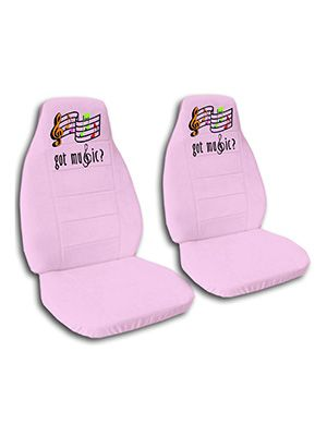 Cute Pink Got Music Car Seat Covers