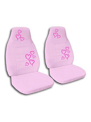 Cute Pink Hearts Car Seat Covers