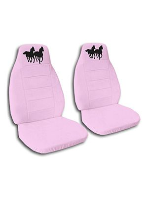 Cute Pink Horses Car Seat Covers