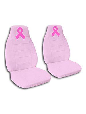 Cute Pink Pink Ribbon Car Seat Covers