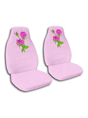 Cute Pink Roses Car Seat Covers