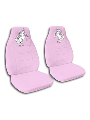 Cute Pink Unicorn Car Seat Covers