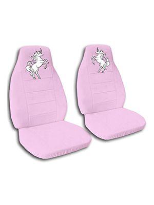 Cute Pink Unicorn Car Seat Covers