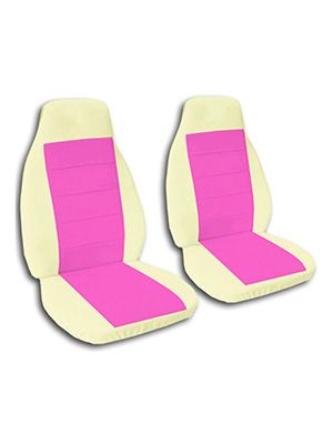 Hot Pink and Cream Car Seat Covers