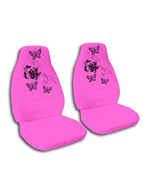 Hot Pink Butterflies Car Seat Covers