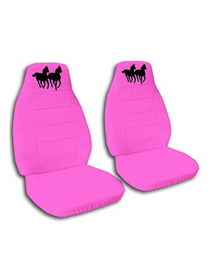 Hot Pink Horses Car Seat Covers