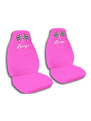 Hot Pink Racing Car Seat Covers