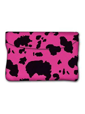 Pink and Black Cow Car Trash Bag