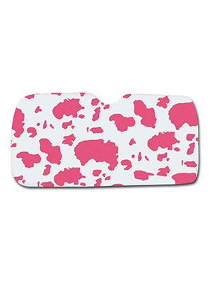Pink and White Cow Car Sun Shade
